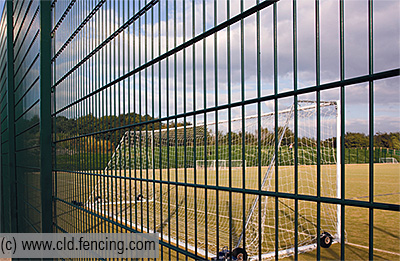 Football Pitch showing Dulok Sports fencing system